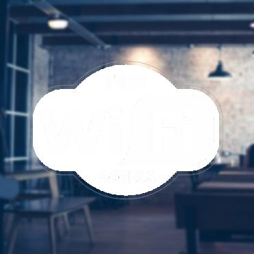 Logo Free WiFi Sticker