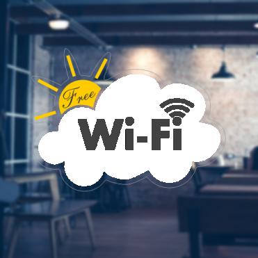 Cloud Free WiFi Sticker