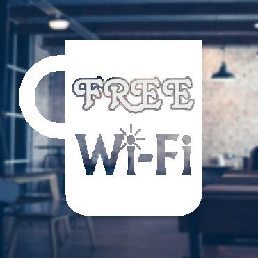 Mug Free WiFi Sticker