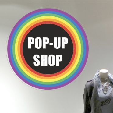 Rainbow Pop-Up Shop Sticker