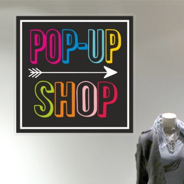 Coloured Pop-Up Shop Sticker