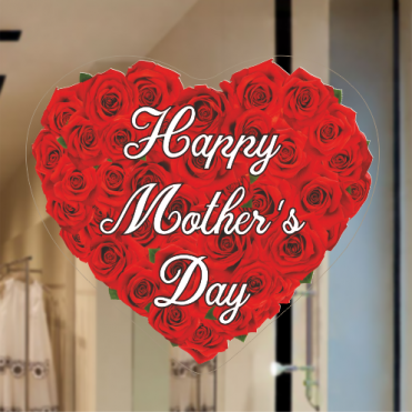 Roses Heart Mother's Day Sticker