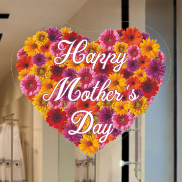 Floral Heart Mother's Day Sticker