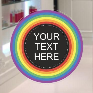 Custom Rainbow Shop Window Sticker