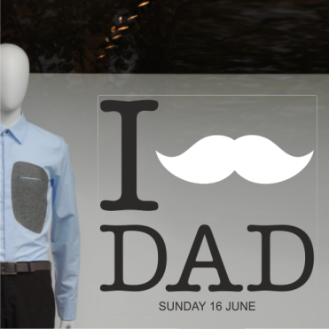 Moustache Father's Day Sticker