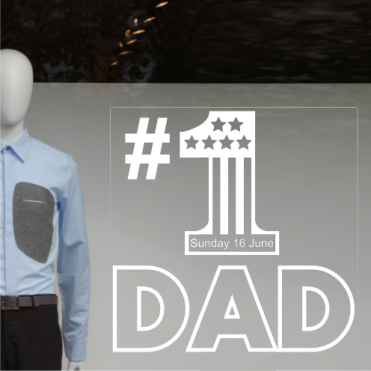 Number One Father's Day Sticker
