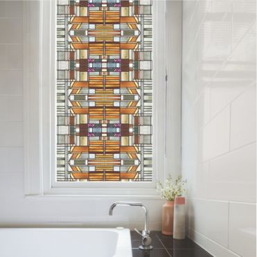 Elbaite Seamless Art Deco Stained Glass Film