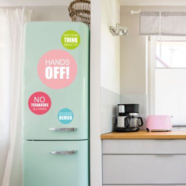 Circular Personalised Kitchen Sticker