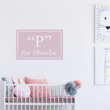 Personalised Framed Nursery Sticker