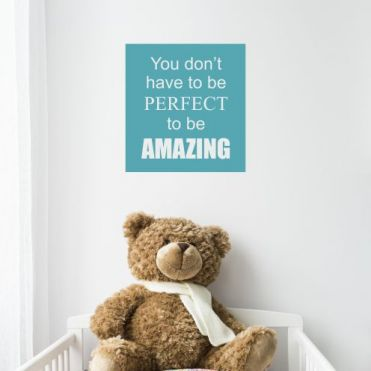 Personalised Square Or Oblong Nursery Sticker