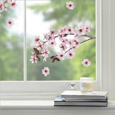Cherry Blossom Branch Window Sticker