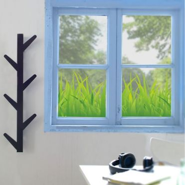Grass Border Window Sticker