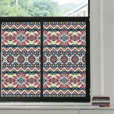 Aztec Stained Glass Effect Window Film