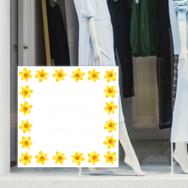 Spring Collection With Daffodils Sticker