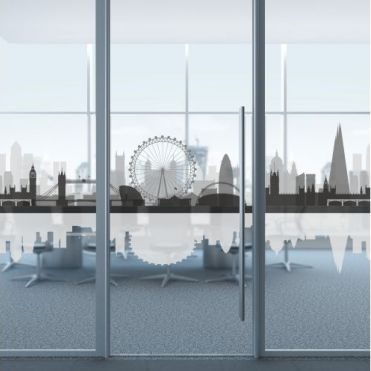 London Skyline Glass Partition Film