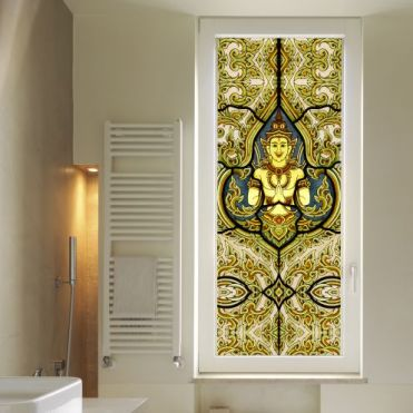 Thai Angel Stained Glass Effect Window Film