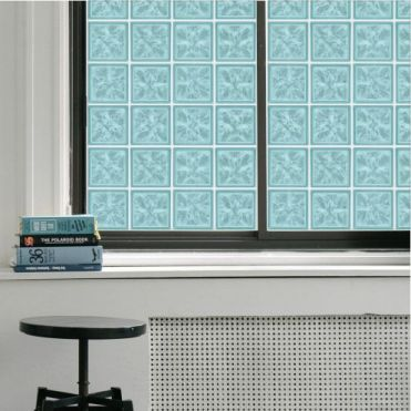 Blue 15cm Glass Blocks Window Film