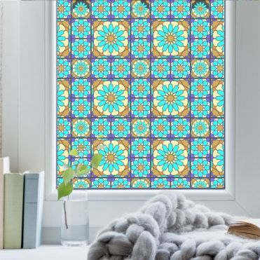 Agadir Stained Glass Effect Window Film