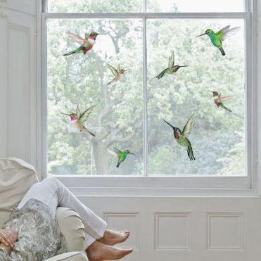 Hummingbirds Decorative Window Stickers