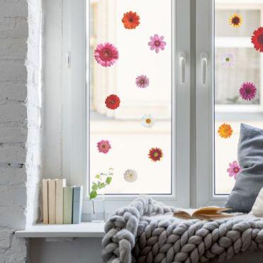 Flowers Bird Strike Window Stickers