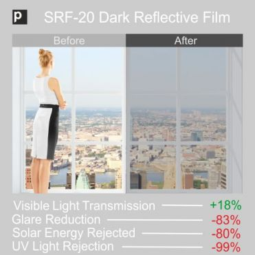 SRF 20 Dark Reflective Window Film
