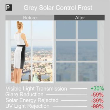 Matt Grey Solar Frosted Window Film