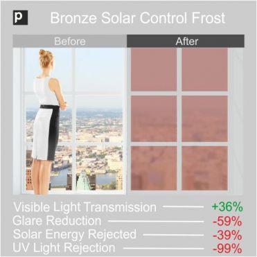 Matt Bronze Solar Frosted Window Film
