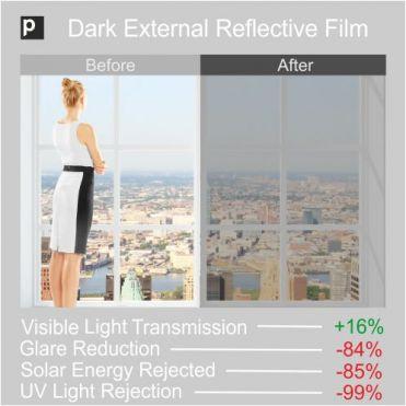 SRF 20X Dark External Window Film