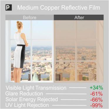 CRF 30 Medium Copper Reflective Window Film