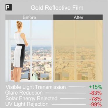 Gold Coloured Reflective Film