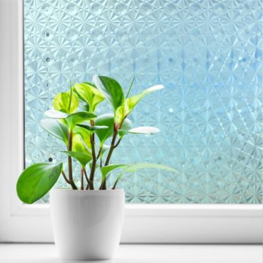 Cut Glass Effect Static Window Film