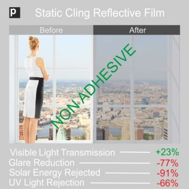 Static Cling Mirror Window Film