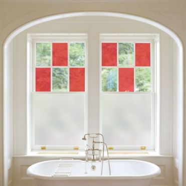 Red Stained Glass Film