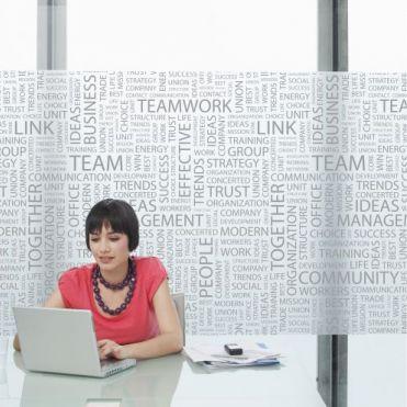 Management Office Window Film