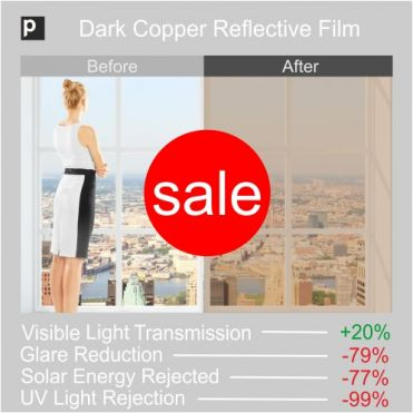CRF 20 Dark Copper Reflective Window Film