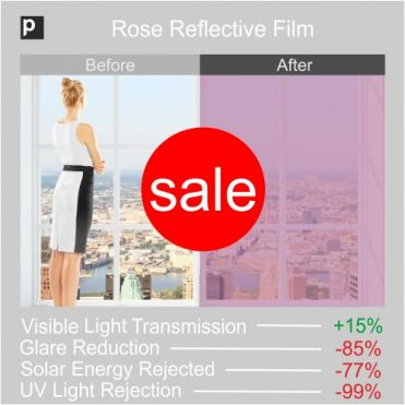 Rose Coloured Reflective Film