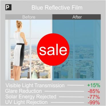 Blue Coloured Reflective Film