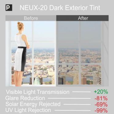 NEUX-20 Dark Exterior Tinted Film