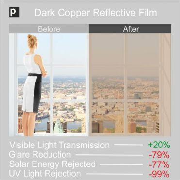 CRF 20 Dark Copper Reflective Window Film