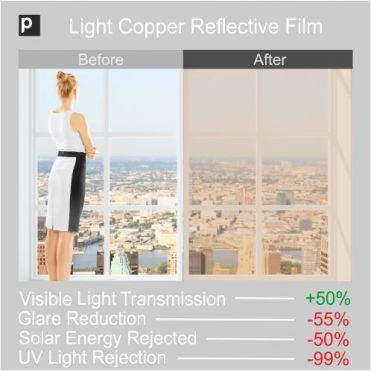 CRF 50 Light Copper Reflective Window Film