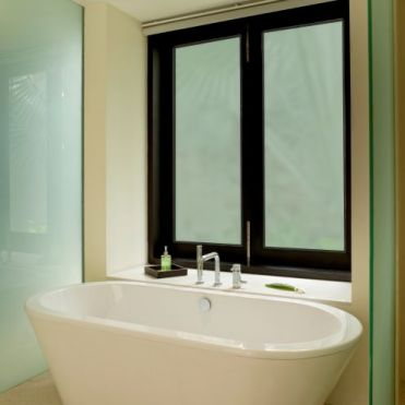 Green Frosted Window Film