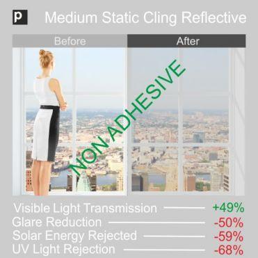 Static Cling One Way Mirror Film (Medium)
