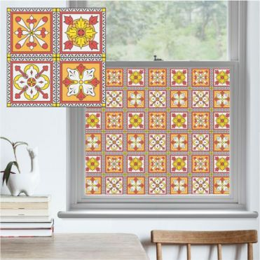 Orange Rosa Victorian Pattern