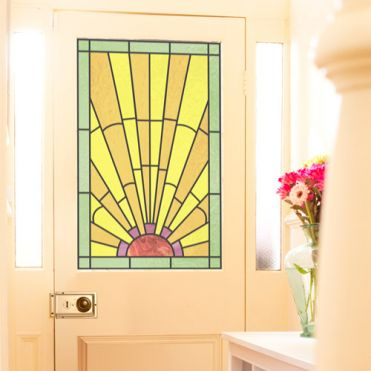 Stained Glass Front Door Film