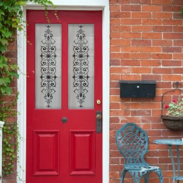 Victorian Front Door With Glass Panels