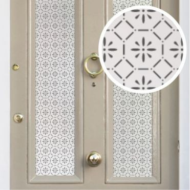 Patterned Frosted Front Door Film