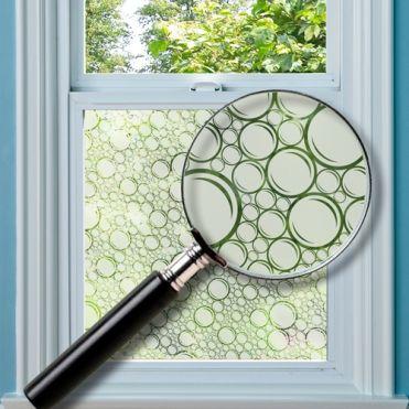 Aqua Patterned Window Film