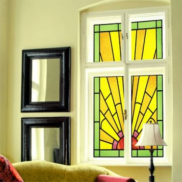 Art Deco Glass Window Film Made Easy By Purlfrost