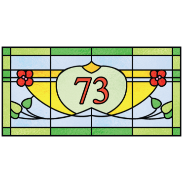 Mackintosh House Number Sticker