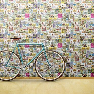 Bicycle & Cycling Stamps Wallpaper